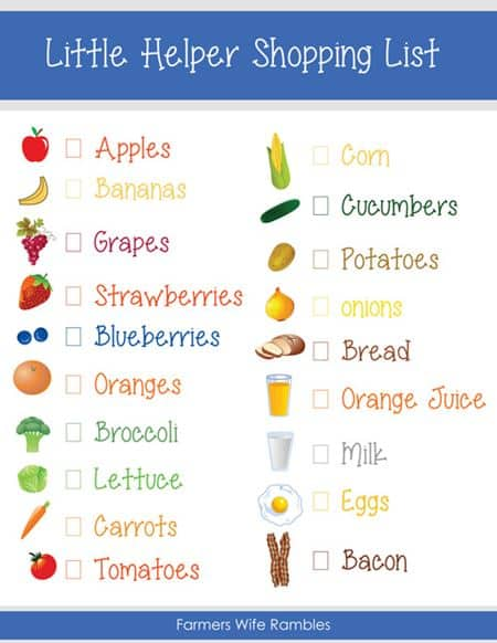 shopping list helper for bariatric patients